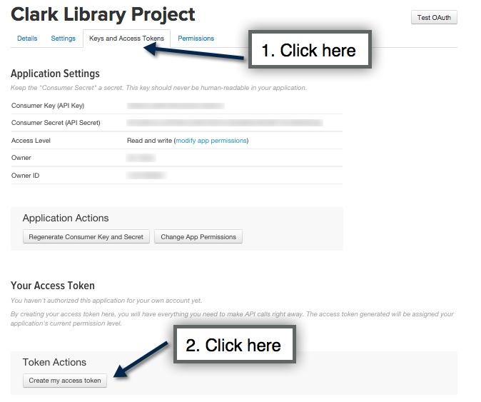 Creating an API token directions