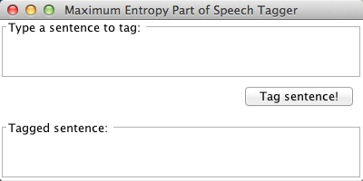 parts of speech tagger window